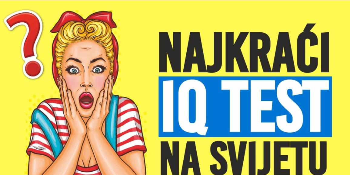 Najkraći IQ test na svijetu ima samo tri pitanja, ali tek 5% ljudi tačno odgovori!